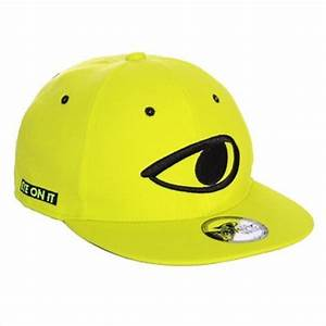 TobyMac Eye It neon yellow flat billed snapback hat