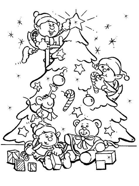 arbol de navidad dibujos infantiles para colorear