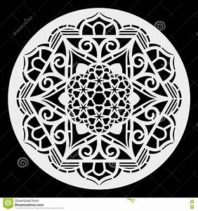 Lace Round Paper Doily, Lacy Snowflake, Greeting Element, Template For Cutting Plotter, Round