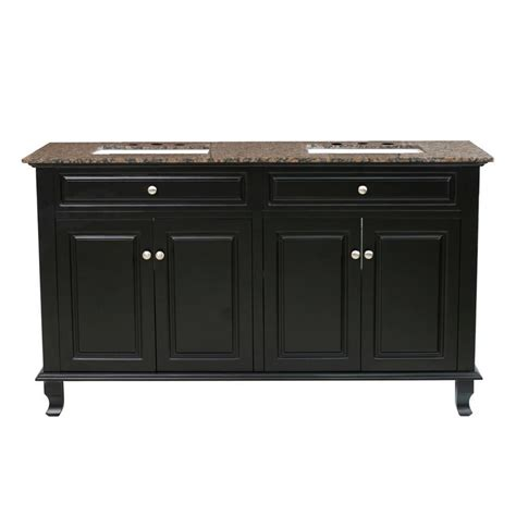 62 double sink bathroom vanity shop bellaterra home ebony undermount double sink bathroom