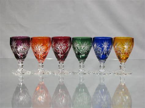 verre en cristal verre en cristal verre en couleur verres en cristal couleur taill 233 s