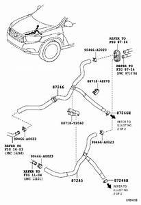 2011 Toyota Highlander Hvac Heater Hose  Water  Conditioning  Heating