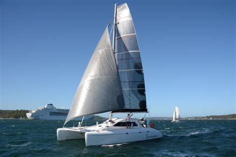 Catamaran Boat Share Sydney by You May Have Seen A Lone Catamaran In The Twilights And