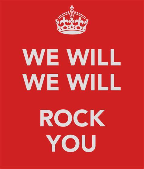 We Will We Will Rock You Poster  Matt Kruczek  Keep Calmomatic