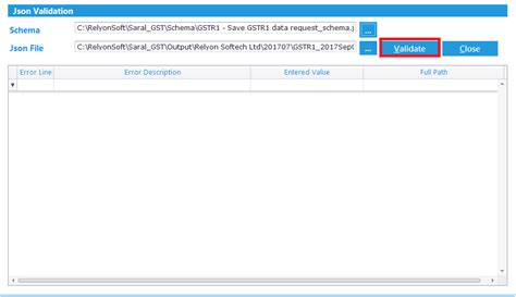 Json Creation And Upload Using Saral Gst