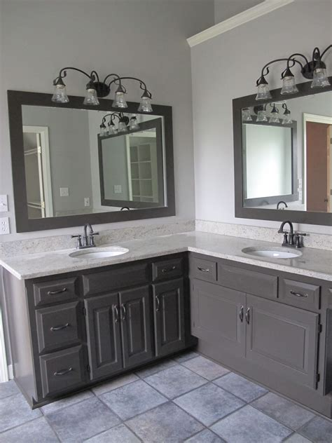 Bathroom Wall Color With Cabinets by This Cool Gray Is In A Bathroom I Painted The Cabinets