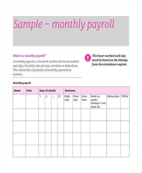 payroll sheet templates  sample  format