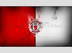 Artistic Wallpaper of Manchester United Logo and Red White