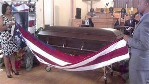 Draping the casket - YouTube
