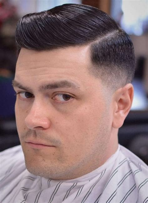 exclusive mens slicked  side part hairstyles