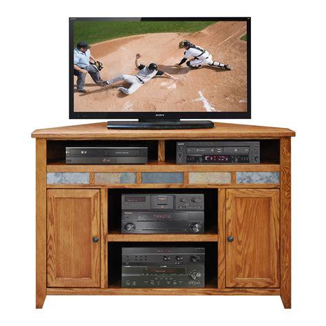 oak tv stands legends furniture oak creek golden oak 56 quot corner tv stand made in the usa the simple stores