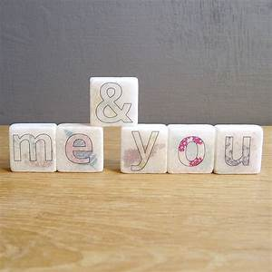 39me and you39 decorative mini marble letter tiles by With marble letters decor