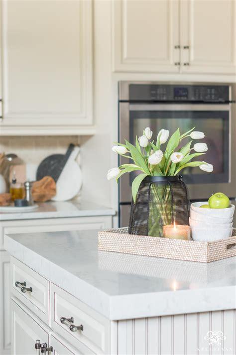 kitchen island decor  easy styling tips kelley