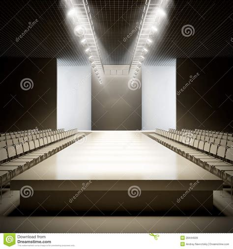 fashion empty runway royalty  stock images image