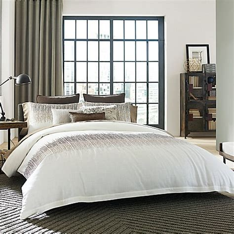 kenneth cole duvet cover kenneth cole reaction home etched duvet cover in ivory