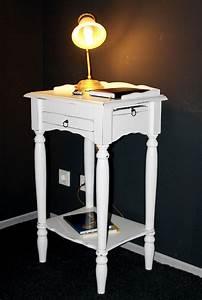 Beistelltisch Weiß Vintage : massivholz konsolentisch wei shabby chic telefontisch beistelltisch ~ Yasmunasinghe.com Haus und Dekorationen
