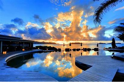St Barth Hotel Sunset Pool 4k 8k