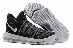 "2017 New Nike KD 10 ""Oreo"" Black/White Basketball Shoes ..."