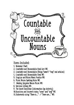 countable  uncountable nouns images countable nouns
