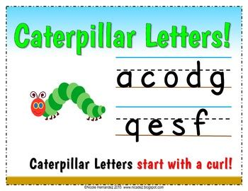 handwriting letter formation visual aids tpt