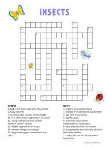 insects crossword for