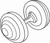 Barbell Clip Weight Sweetclipart sketch template