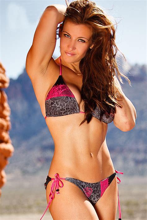 miesha tates tattooed sister hosts  vegas bikini pool