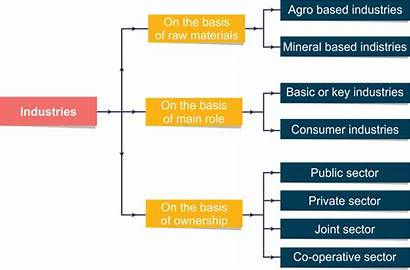 Types Industries Graphic Organizer Using Am Topperlearning