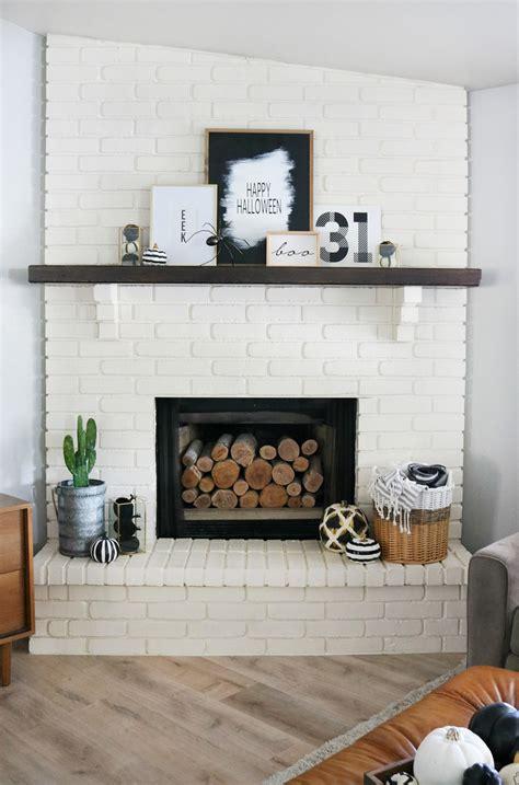 Black And Decor - simple black white mantel decor