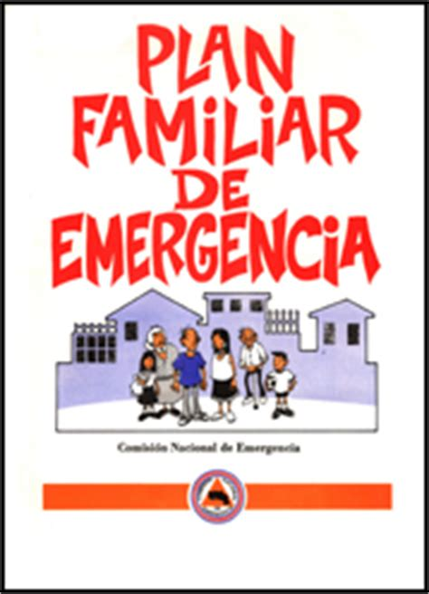 plan de emergencias familiar plan familiar de emergencia cne