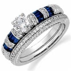 Blue Sapphire Wedding Ring Sets