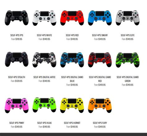 ps4 controllers colors new scuf gaming ps4 controller finally available for pre