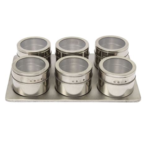 Spice Rack Containers 7in1 magnetic spice jar set rack holder containers