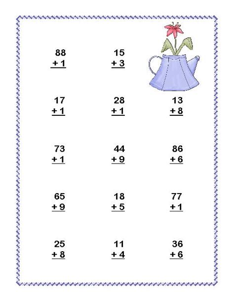 math worksheets for 2nd grade addition and subtraction