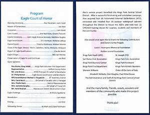 eagle court of honor for kings park student alex pohlmann With eagle scout court of honor program template