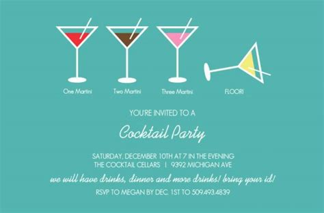 Funny Cocktail Party Invitation Wording Cimvitation