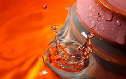 Water Drops Wallpapers Pc Droplets Desktop Nature