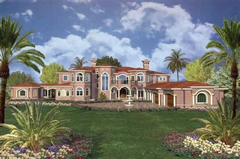 house plan    bedroom  sq ft luxury mediterranean home tpc aa