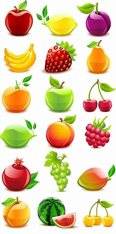 Fruit Clipart Fruits Vector Graphics Texture Crystal