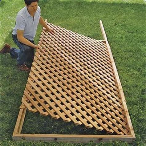 build lattice fence panels set  lattice