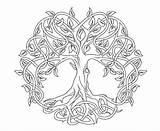 Celtic Coloring Tree Pages Adults sketch template