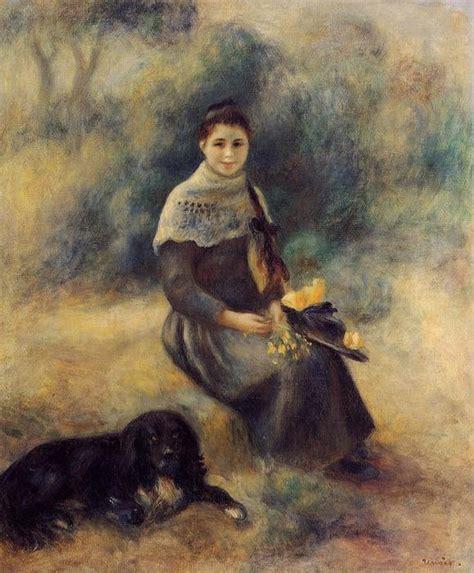 Jeune Fille Avec Un Chien 1888 De Pierre Auguste Renoir