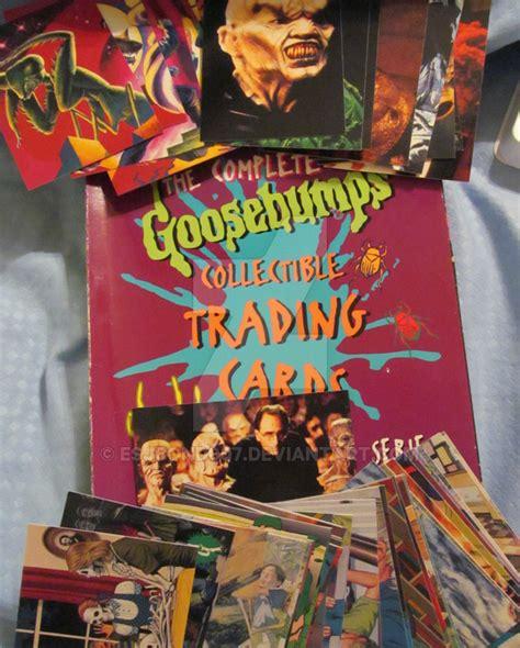 goosebumps trading cards  rare  esjbond  deviantart