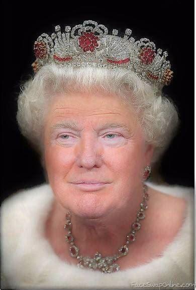 queen elizabeth trump face swap