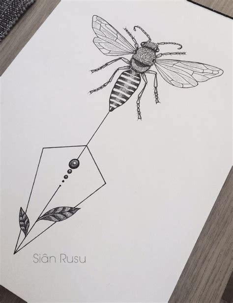 honey bee drawing dotwork staedtler fineliners art