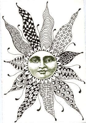 zentangle | Sun art, Zentangle art, Art