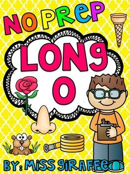 Long O Worksheets And Activities {no Prep!} By Miss Giraffe Tpt