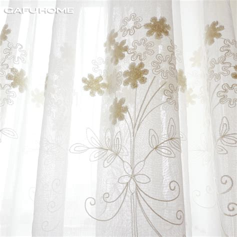 popular embroidered sheer curtains buy cheap embroidered