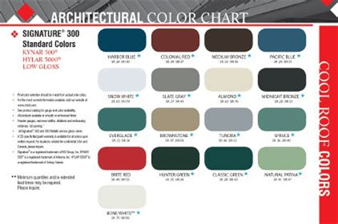mbci color chart new standard color offerings 2012 03 27 roofing contractor