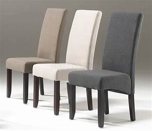 Chaises salle a manger tissus for Idee deco cuisine avec chaise salle a manger cuir taupe